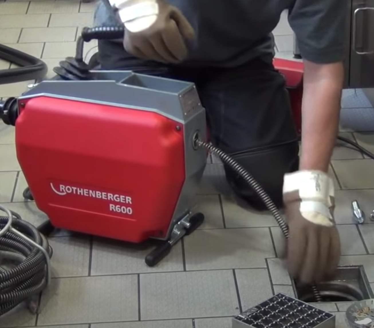 Переносная электрическая машина для чистки труб Rothenberger R600